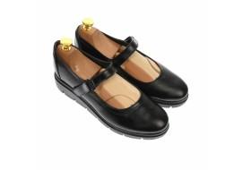 Pantofi dama,  cu talpa ortopedica din piele naturala, negru - P38N
