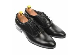 Pantofi barbatesti, eleganti, din piele naturala, negru - MODN