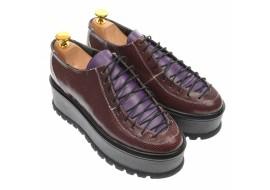 Pantofi dama cu  talpa groasa casual, 4 cm, visiniu si mov - P501VMOV