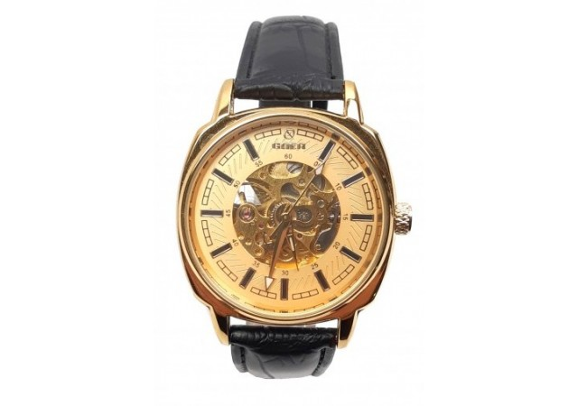 Ceas barbati automatic, business, elegant GOER GO143GOLD