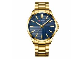 Ceas de mana barbati elegant Gold/Blue, Curren - M8322BLGOLD