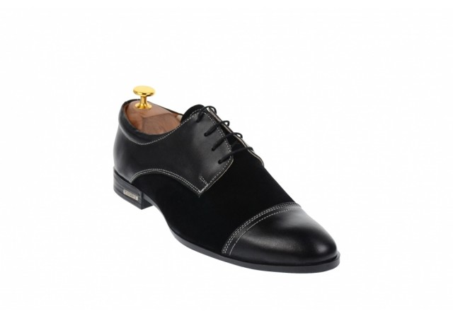 Oferta marimea 42, 44, pantofi barbati eleganti din piele naturala L959NBENY
