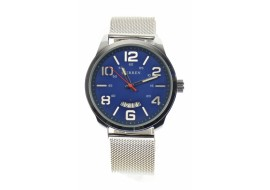 Ceas barbati, automatic, business, elegant GOER, argintiu - M8236SILVERBLUE