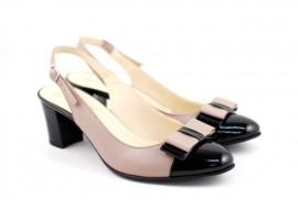 Lichidare marimea 35, 37, 38, 40 Pantofi dama eleganti, decupati, din piele naturala - L157NLTAUPE