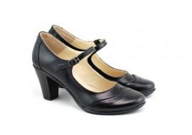 Oferta marimea 36, Pantofi dama eleganti din piele naturala cu toc de 7 cm - LP104NBOX