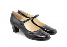 Pantofi dama comozi si eleganti, din piele naturala, cu toc de 5 cm, P104NL5
