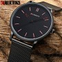 Ceas Curren Slim barbatesc, Elegant, Black - M8233N