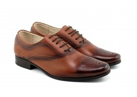 Oferta marimea 41 Pantofi barbati casual, eleganti din piele naturala maro - L887MD