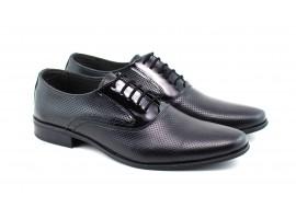 Pantofi barbati eleganti din piele naturala, cu sivite lac - STEFINPF