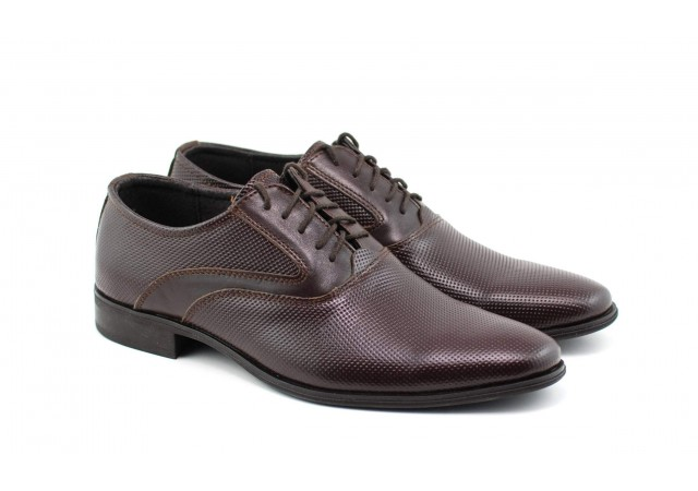 Pantofi barbati eleganti din piele naturala maro STEFIPERFM