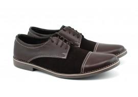 Pantofi barbati casual - eleganti din piele naturala maro EZELMBOXVEL