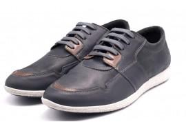 Pantofi Sport din piele naurala pentru barbati culoare negru si gri VIC2020