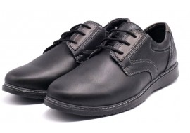 Pantofi Casual Barbati din piele negri VIC2210