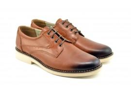 Pantofi barbati casual din piele naturala maro FLORYAN