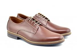 Pantofi barbati casual din piele naturala maro VIC900MD