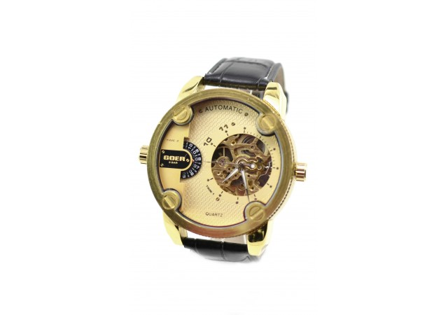 Ceas barbati automatic, business, elegant GOER GXLGOLD