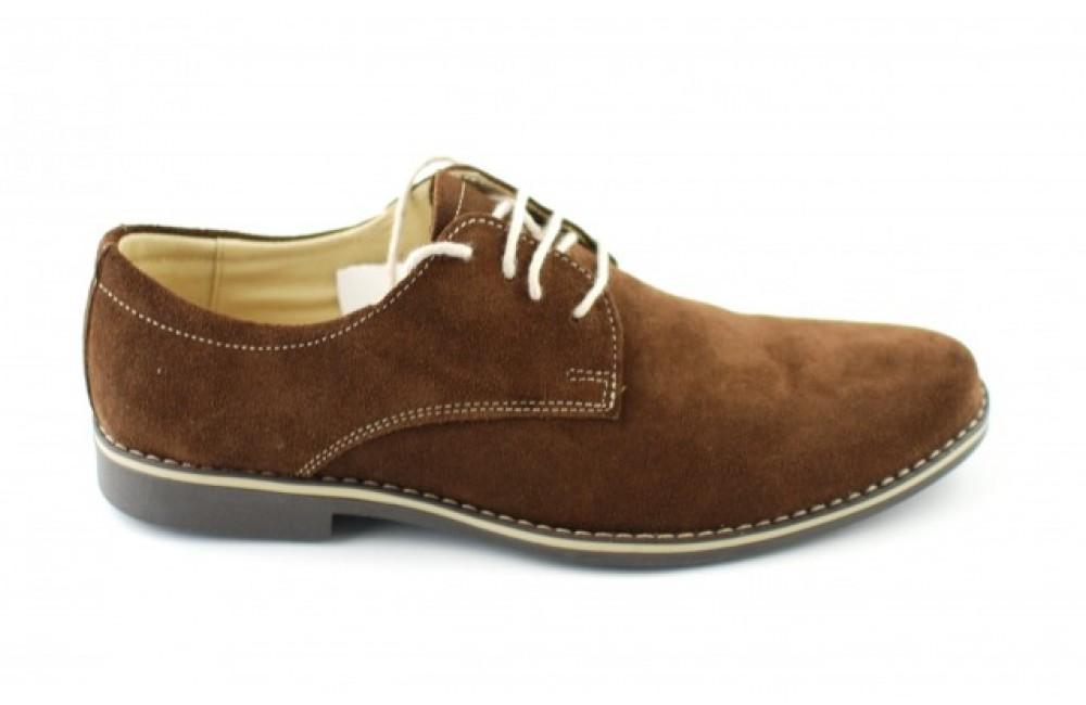 mai tarziu mai aproape de vândut în toată lumea Pantofi maro barbati casual - eleganti din piele naturala intoarsa ...