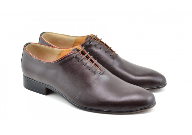 Pantofi barbati eleganti din piele naturala maro coniac - ENZO M