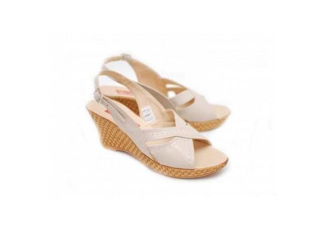 Sandale dama din piele naturala cu platforma - S89BEJ