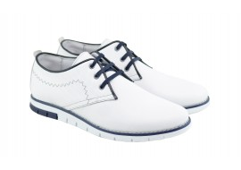 Pantofi barbati sport - casual din piele naturala - Yanis White