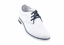 Pantofi barbati sport din piele naturala Yanis ALB, TENYANISALB