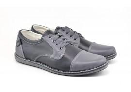 Pantofi sport - casual barbati din piele naturala ELITE GRI 338GRI