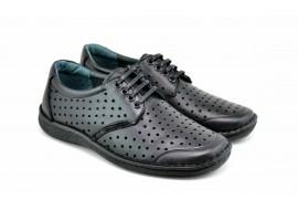 Pantofi barbati casual din piele naturala cu perforatii TOMY
