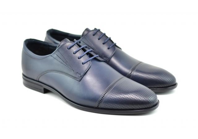 Pantofi barbati eleganti din piele naturala SIR Bleumarin