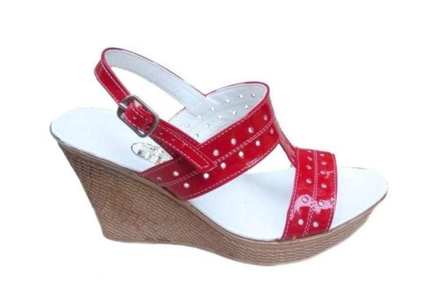 Sandale dama din piele naturala cu platforma S46ROSULAC