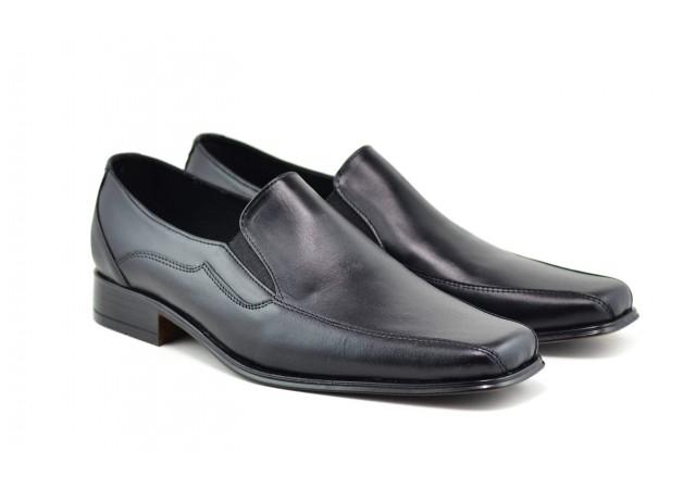 Pantofi barbati eleganti din piele naturala, cu elastic - STD10NEL