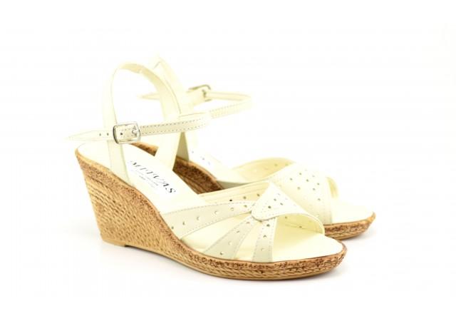 Sandale dama din piele naturala box - ELIONS3BEJ