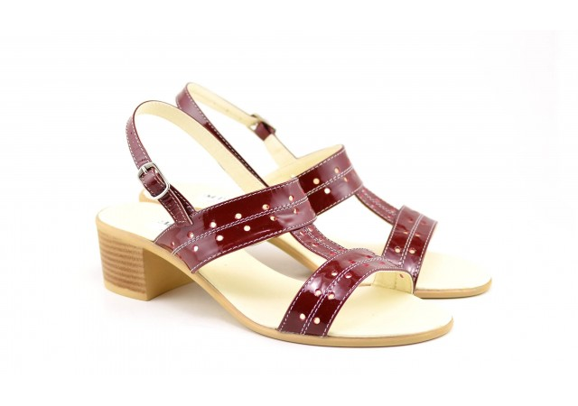 Sandale dama din piele naturala box - S7LACVIS