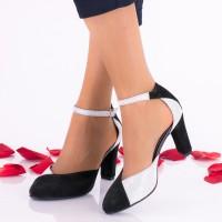Pantofi dama negri din piele intoarsa toc 8cm - NAA51