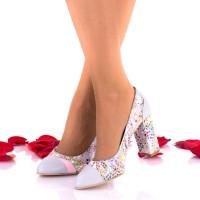 Pantofi dama din piele naturala toc 8cm - NAA47