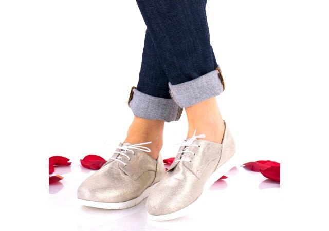 Pantofi dama casual din piele naturala NA296A