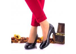 Oferta marimea 39 Pantofi dama eleganti din piele naturala toc 5cm - LNA119NPL