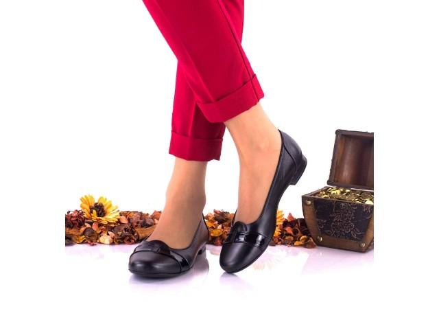 Pantofi dama casual din piele naturala si piele lacuita NA146