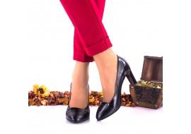 Oferta marimea 38 - Pantofi dama, din piele naturala si piele lacuita, toc 8cm - LNAA38