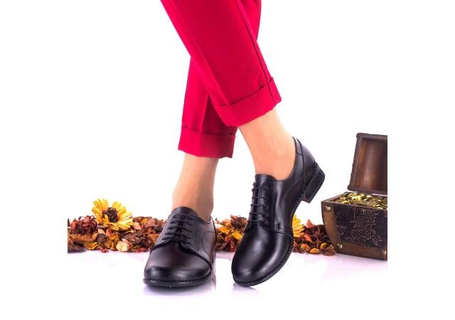 Pantofi dama casual din piele naturala cu siret - NA150NP