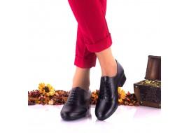 Pantofi dama eleganti din piele naturala, negri, marimea 37 - LNA231