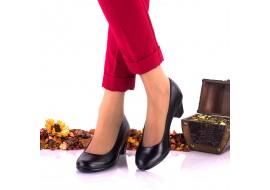 Oferta marimea 37,  Pantofi dama eleganti din piele naturala toc 5 cm, foarte comozi - Made in Romani LNA236NP