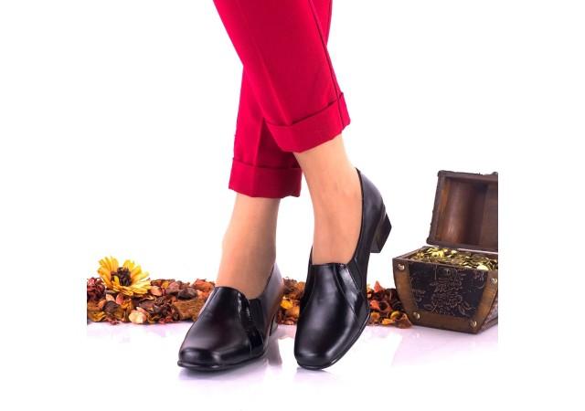 Oferta marimea 37,  40 -  Pantofi dama  casual din piele naturala toc 4 cm - LNA80NPL