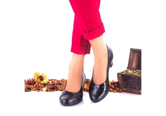 Lichidare marimea 37, 40 Pantofi dama casual din piele naturala toc 4 cm - LNA113NPL
