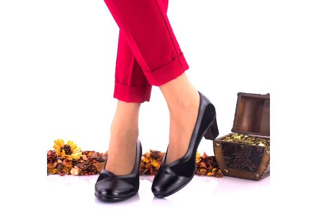 Pantofi dama casual din piele naturala toc 5 cm - NA112NPS