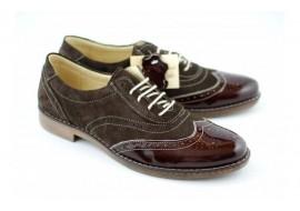 Pantofi barbati casual - eleganti din piele naturala (varf lacuit) 870LVM