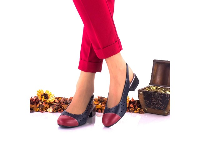 Pantofi dama casual din piele naturala NA252D
