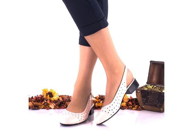 Pantofi dama casual din piele naturala,nude NA252E