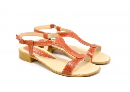 Lichidare marimea 39 Sandale dama din piele naturala - Made in Romania LS16M4