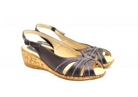 Lichidare marimea 36 Sandale dama din piele naturala toc 4cm - LS52