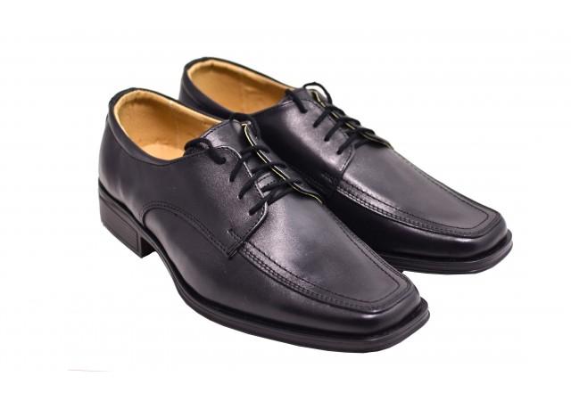Lichidare marimea 39 Pantofi barbati negri , eleganti din piele naturala- LDENIS39N